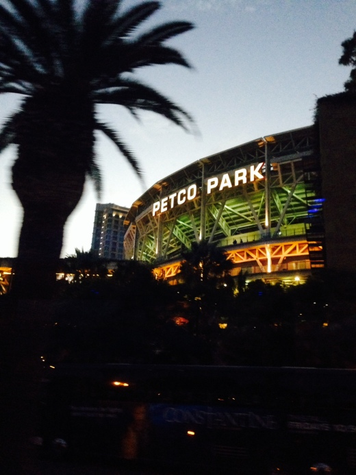 Petco Park, looking all gorgeous at dusk